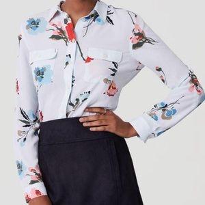 Pale blue LOFT blouse